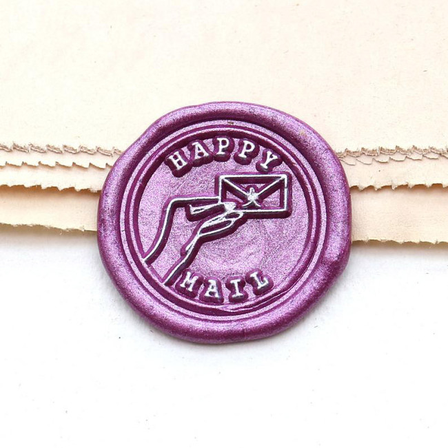 Happy Mail Wax Seal Stamp Party Inivation Wax Seal Kit