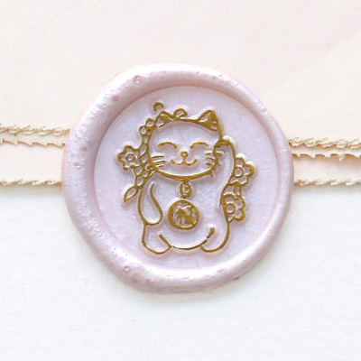 Japan Lucky Cat Wax Seal Kitty Wax Stamp Gift for Children