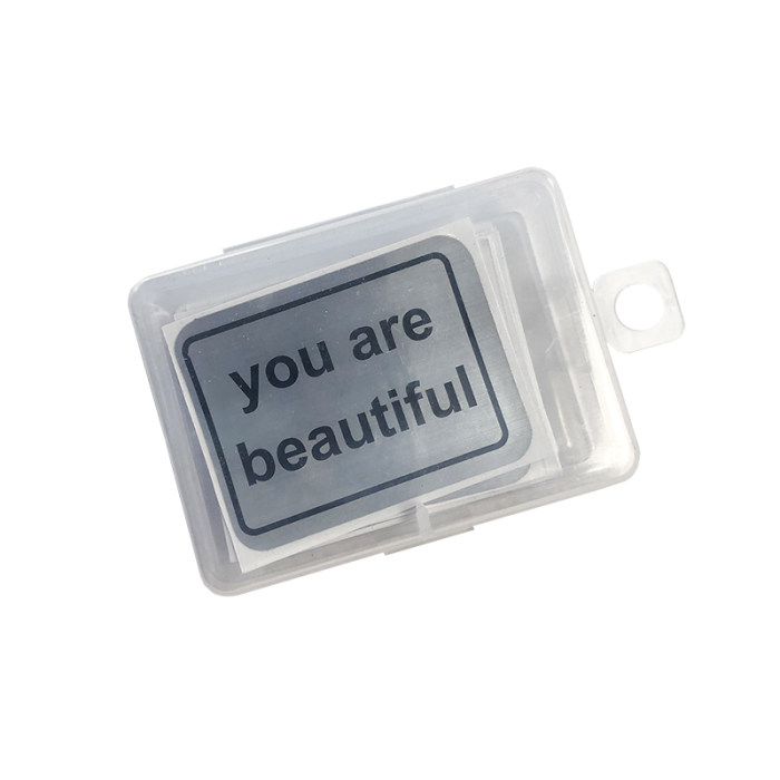 You Are Beautiful Stickers Decals Meme Silver Sticker Personalized Stickers Make My Own 50pcs Free Shipping