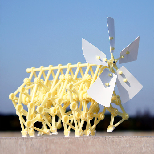 Wind Powered Mini Strandbeest Kit Wind Power Beast Education Toys for School Elementary Grade Schooler Gifts for Children Teen