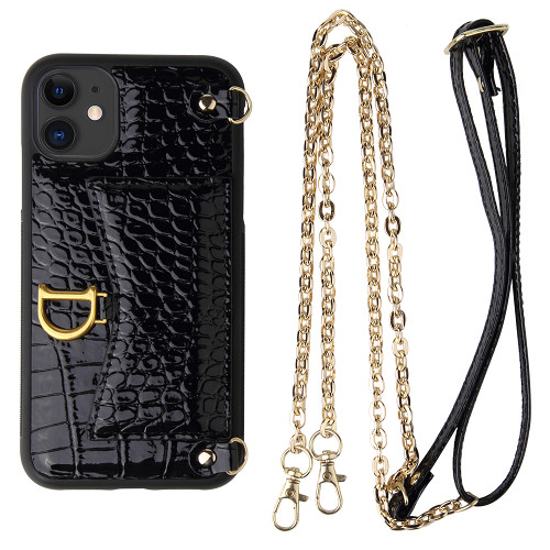 Crocodile iPhone Case iPhone 12 Pro Max Handbag Case Crocodile Lanyard Case