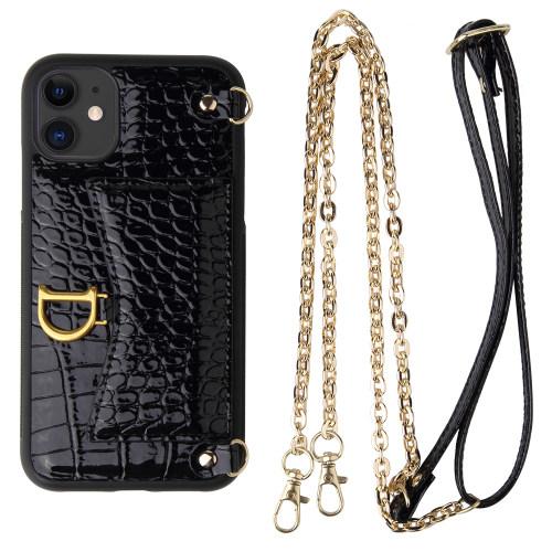 Crocodile iPhone Case iPhone 12 Pro Max Handbag Case Crocodile Lanyard Case