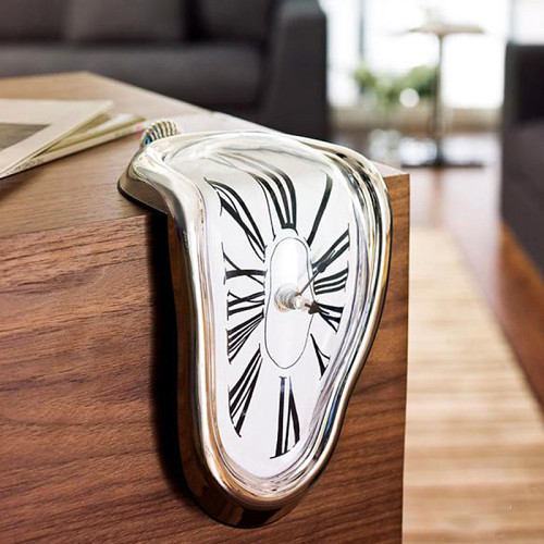 Melting Clock Dali Melting Clocks for Shelf Artist Home Decor Designer Wholesale Clocks in 4 Colors