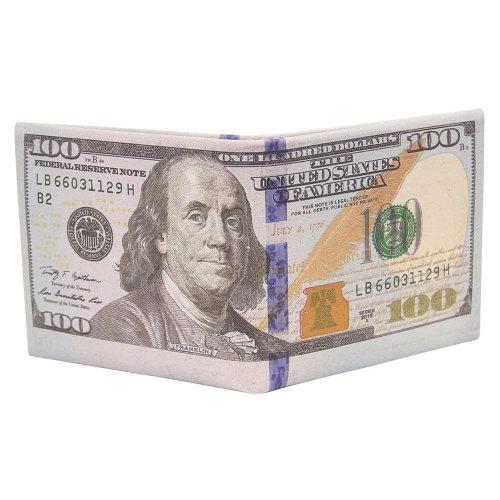 $100 Hundred Dollar Bill Wallet US Dollar Wallet Funny Wallet Gifts for Father Him Men