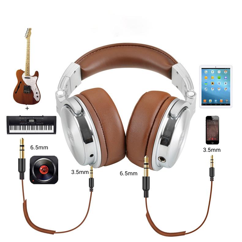 Professional Wired Binaural Meditation Headphones DJ Pro Headphone : Veasoon