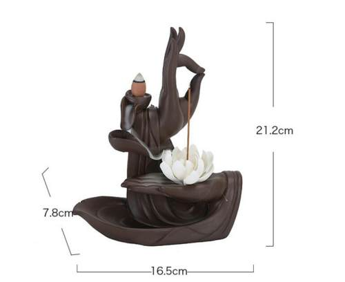 Zen Incense Burner White Lotus Backflow Incense Burner Gifts for Home