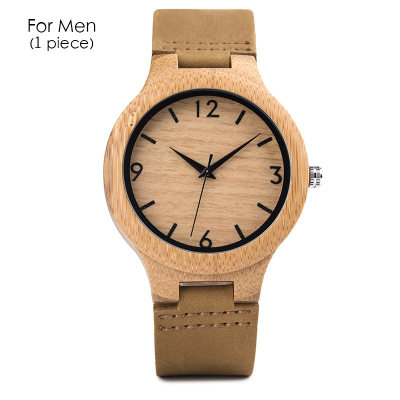 Personalized Wood Watch Custom Engraved Wooden Watch Gifts for Couple With Gift Wooden Box