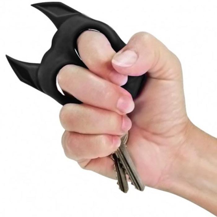 Brutus Bulldog Self Defense Keychain Defense Tools Personalized Birthstone Gifts for Women Her Girls : Veasoon