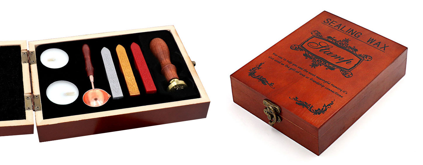 buy wax seal stamp with wooden box