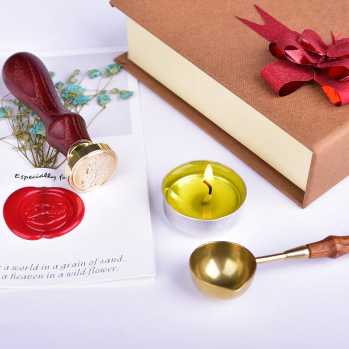 H&B Personalized Wax Seal Stamp 2 Initials Custom Sealing Stamp Gifts for Couples
