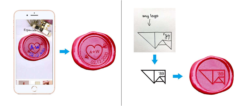 customized wax seal stamp on veasoon.com