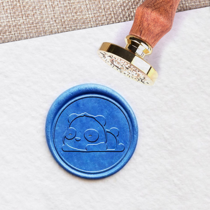 Personalized Panda Wax Seal Stamp with Name Initials Birthday Gifts