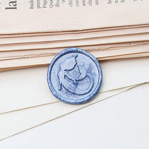The Little Mermaid Wax Seal Stamp Custom Sealing Wax Stamp Kit Wedding Gifts
