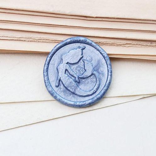 The Little Mermaid Wax Seal Stamp Custom Sealing Wax Stamp Kit Wedding Gifts