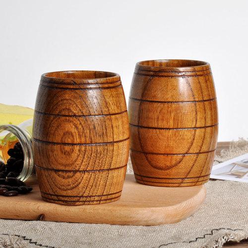 Wooden Oak Mug Personalized Mug Cup With Initials Logo