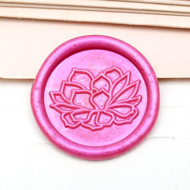 Succulent Plant Wax Seal Stamp Flower Shop Custom Sealing Wax Stamp