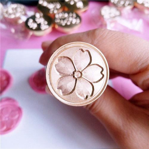 Japan Sakura さくら Cherry Blossom Wax Seal Stamp Custom Flower Sealing Stamp