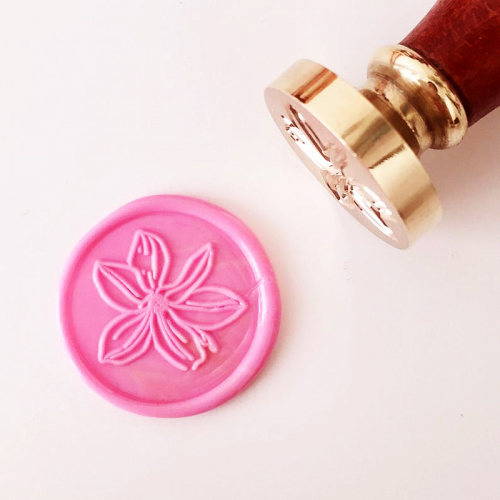 Magnolia Flower Wax Seal Stamp Customizable Stamp Gifts for Girls