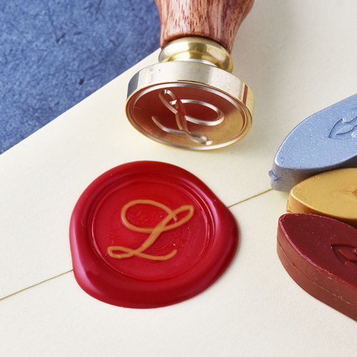 Letter L Calligraphy Alphabets Wax Seal Stamp Kit Personalized Wax Seal Stamp Online