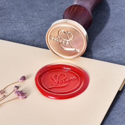 Custom Name Wax Seal Stamp Levine Name Engraved Stamp Personalize Name Stamp