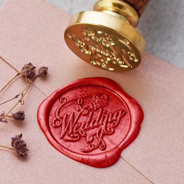 Wedding Wax Seal Stamp Personalized Brass Seal Stamp Kit Free Shipping
