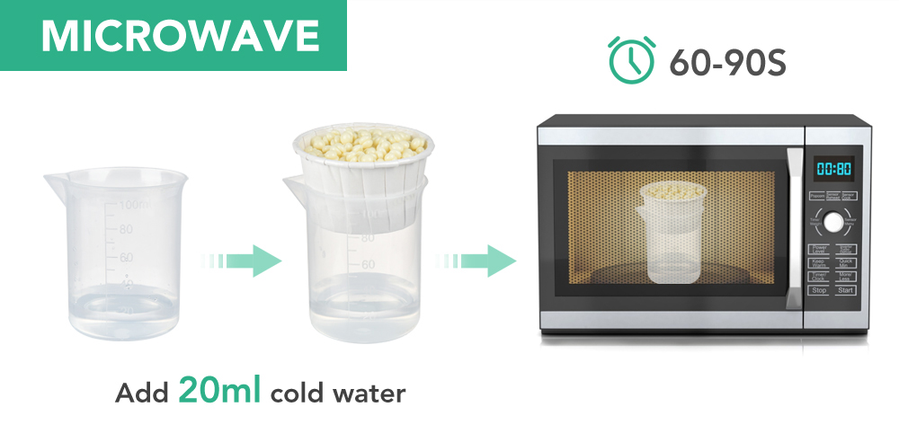 Melt the nose wax by microwave