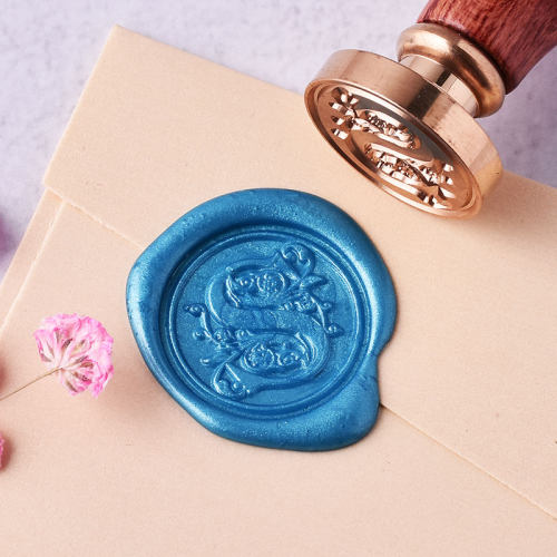 Floral Letter S Wax Seal Stamp Alphabets Wax Seal Stamp Kit Buy Wax Seal Stamps Online