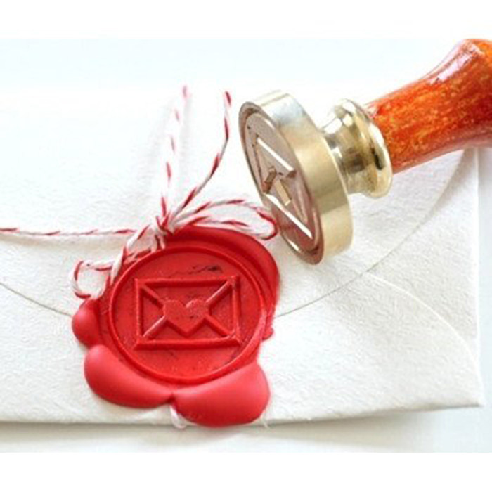 Red Heart Envelope Wax Seal Stamp Kit Wax Seal Stamp for Love Letter Envelope