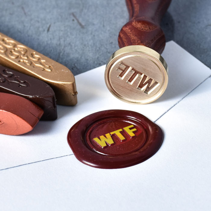 WTF Brass Seal Wax Seal Stamp