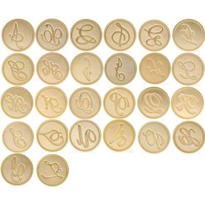 26 Alphabets Wax Seal Stamp Set 26 Letters Wax Seal Stamp A