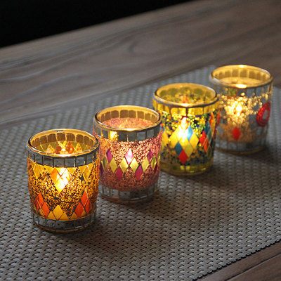 Handmade Votive Centrepiece Candle Holders Glass Crystal Tealight Holder Party Stuff
