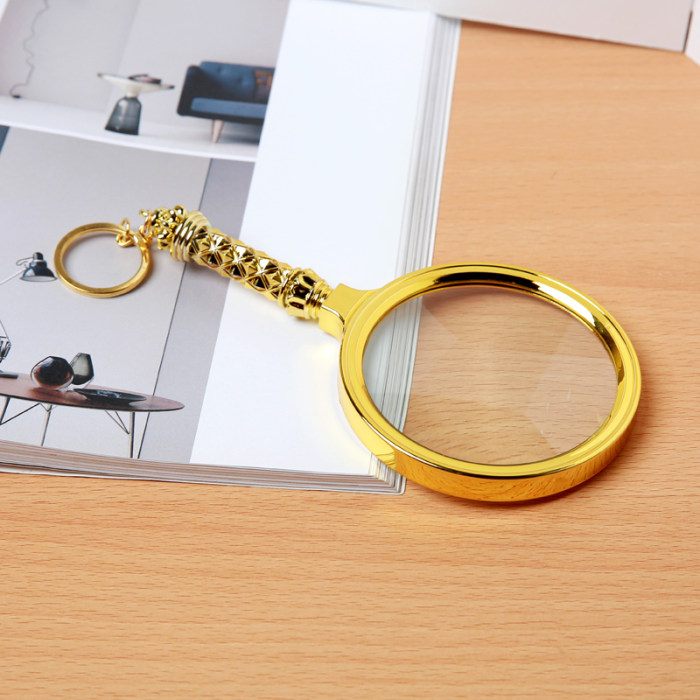 Magnifier Keychain Personalized Gifts for Grandfather Grandmother