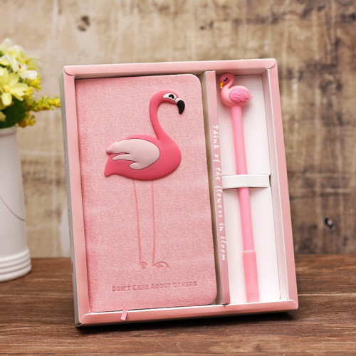 Flamingo Notebook and Pen Gift Box Kit Going Back to School Gifts for Teens Daughter