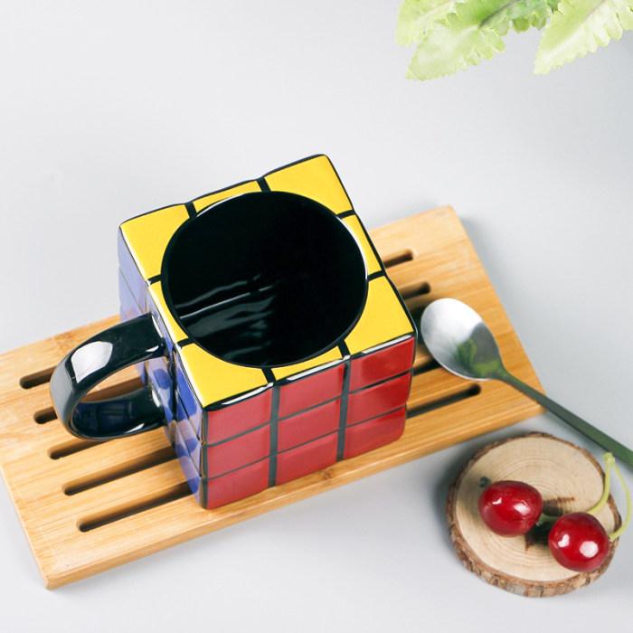 Rubik's Cube Mug 3D Rubiks Magic Puzzle Game Mug Coffee Tea Novelty Gifts