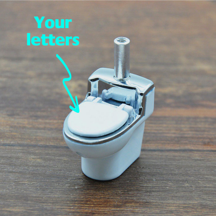 Mini Toilet Tobacco Pipe Toilet Bowl Pipe Personalized Gifts For Him Gifts for Grandfather Gifts for Men