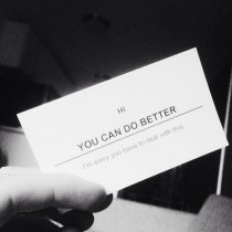 You Can Do Better Business Card