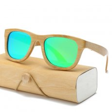 Unisex Bamboo Sunglasses For Men Women Retro De Sol Masculino