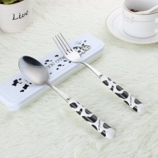 Milch Cow Spoon and Fork Set