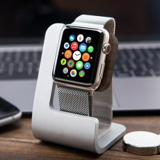 Aluminum and Wood Apple Watch Charger Holder