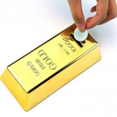 Gold Bar Piggy Bank