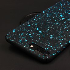 Aqua Blue Starry Night iPhone Case