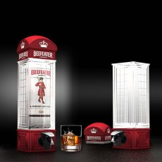 Red Telephone Booth Beer Dispenser Machine