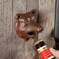 Bear Bite Wall Mounted Bottle Opener