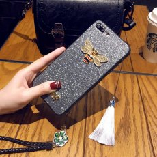 3D Diamond Bee Glitter iPhone Case