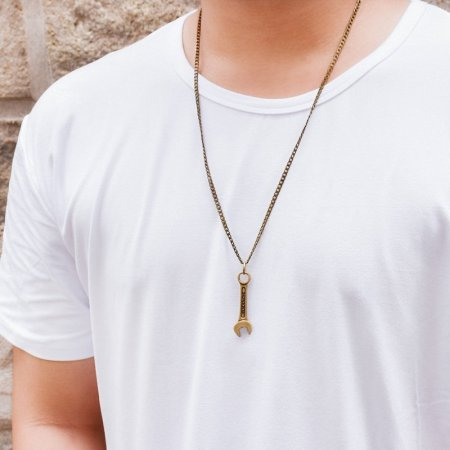 Brass Wrench Necklace