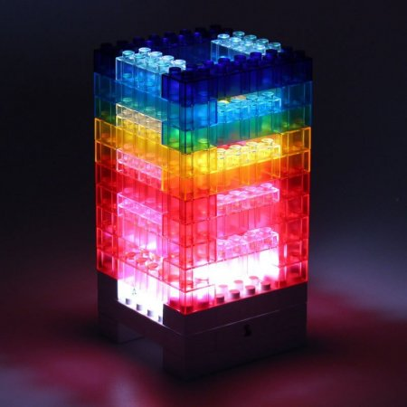 DIY Rainbow Blocks Lamp