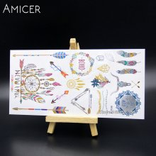 a363006d6 Body Art Temporary Tattoos Gold Flash Metallic Tattoo Arm Sleeves Sticker  Henna Women Jewelry Waterproof For