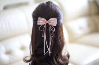 Ribbon bow hairpin