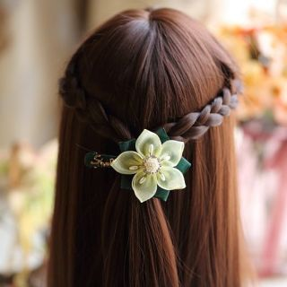Vintage silk flower hairpin