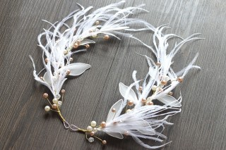Bridal feather headdress